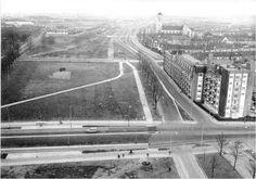 Maastricht. Kruising President Rooseveldlaan / Scharnerweg. Flat koningsplein enz was er toen nog niet.
