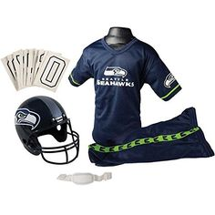 Franklin Sports NFL Seattle Seahawks Deluxe Youth Uniform Set, Small  #Deluxe #Franklin #KidsHalloweenCostumes #Seahawks #Seattle #Small #Sports #Uniform #Youth Halloween Spirit