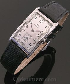 1940s steel rectangular vintage Omega watch (3856)
