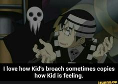 Soul eater, Lord Death, Death the Kid, funny, text