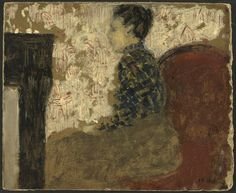 Édouard Vuillard (1868-1940), Woman Sitting by the Fireside (c.1894), oil on cardboard, 26.2 x 21.4cm. Collection of National Gallery of Art, Washington, DC, USA