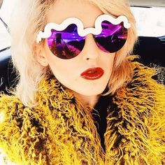 Rachel from I Hate Blonde in the Le Specs X Craig & Karl Hi Brow Shades || Get the sunnies: http://www.nastygal.com/accessories-eyewear/le-specs-x-craig-karl-hi-brow-shades-