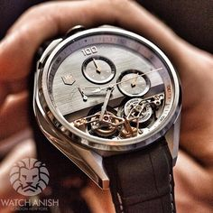 The first magnetic double tourbillon by @TAGHeuer