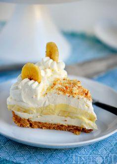 stunning No Bake Banana Cream Pudding Cheesecake! A fabulous cookie ...