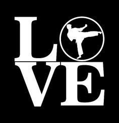 Love Taekwondo or Martial Arts Decal Vinyl door LazyDogConcepts Taekwondo Quotes, Karate Quotes, Dojo, Karate Girl, Aikido, Krav Maga, Flower Backgrounds, Vinyl Crafts, Girls Be Like