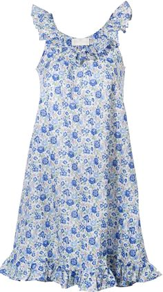 charmajesty Betty Draper Nighty Dress In Liberty Of London felicity blue for Lin Marche Stylish Dresses, Fashion Dresses, Frocks And Gowns, Nightgown Pattern, Diy Clothes And Shoes, Beautiful Dress Designs, Dresses For Pregnant Women, Muumuu, Night Dress For Women