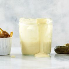 This easy vegan mayonnaise recipe uses chickpeas and chickpea brine. Store the vegan mayonnaise in an airtight container in the fridge for up to a week. Vegan Meal Prep, Vegan Vegetarian, Mayonnaise Recipe, Food Tasting, Recipe Using, Glass Of Milk, Vegan Recipes, Gluten Free, Meals