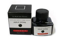 J. Herbin Fountain Pen Ink - 30 ml Bottle - Perle Noire (Pearl Black)
