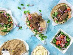 Vegan Lebanese BBQ Kafta - annacookingconcept Vegan Meat Recipe, Meat Recipes, Food Processor Recipes, Tomato Gravy, Fresh Coriander, Stuffed Sweet Peppers, Spice Mixes, Recipe Today