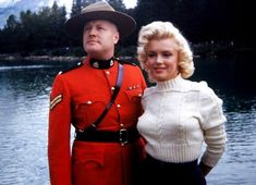 Marilyn Monroe and a Mountie in 1953