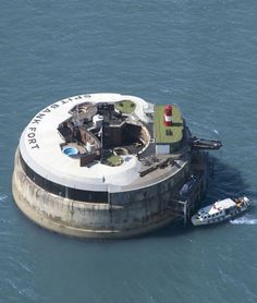 This year-old British fort has been turned into a luxury retreat. The Spitbank Fort Hotel is one mile outside of Portsmouth Harbor in Hampshire.