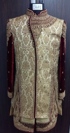 To order this whatsapp us on . Sherwani For Men Wedding, Sherwani Groom, Mens Sherwani, Wedding Dress Men, Indian Wedding Outfits, Wedding Suits, Indian Outfits, Mens Traditional Wear, Mens Suit Accessories