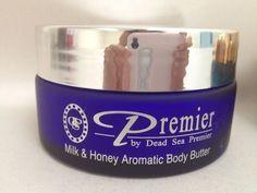 Dead Sea Premier Cosmetics Aromatic Body Butter body 175ml 5.95 oz $15.00 Honey Butter, Milk And Honey, Dead Sea Minerals, Dog Bowls, Cosmetics