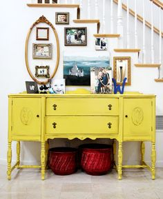 The Sassy Pepper: Yellow Buffet #colorpop! Thinking I need some yellow in my dining room!
