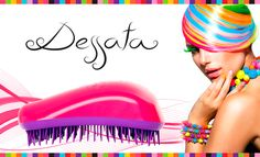 The Dessata Colours Original Detangling Brush features 24 bright colour combinations utilizing the innovative 440 length flexible bristles to take all the stress from your hair. It detangles quickly and without effort, without the need of using other products. No pulling and no hair breakage!