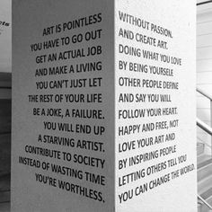 Art is pointless without passion.