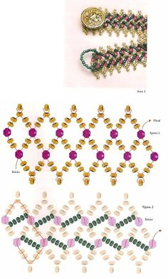 Схема браслет из бисера