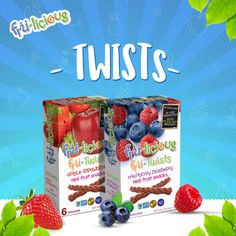 Let's redefine sweet snacking with 100% natural fruit twists. #Twists #frulicious  www.fru-licious.com