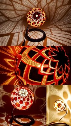 Calabarte: Decorative Carved Gourd Lamps