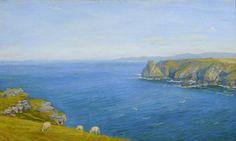 Arthur Hughes - A Bay on the North Cornish Coast