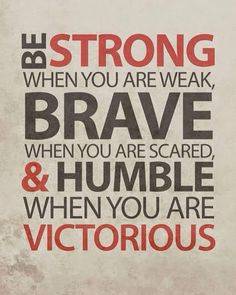 Be strong .....