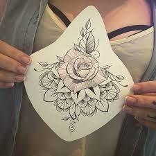 Resultado de imagem para sternum tattoo roses