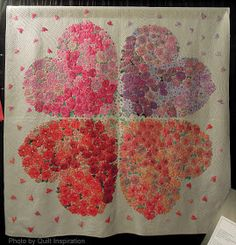 As a theme, hearts and valentines are beloved by quilters around the world.  Here are some beautiful quilts from Japan and the United States...