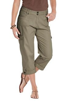 f92ce48592a Woman Within Plus Size Petite Cargo Capris