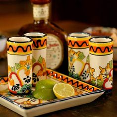 Ceramic Tequila Shot Glasses