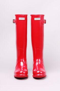 7d4a6a822defd East Coast  amp  British Prep Red Hunter Rain Boots