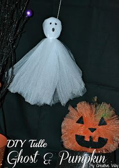 Tulle Ghost Craft. Great kids craft