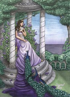 Hera, the Greek sky goddess who is the heavenly Queen of the Gods. As the wife of Zeus, the long-suffering Hera is the patron goddess of all women, part. Greek Gods And Goddesses, Greek And Roman Mythology, Hera Goddess, Goddess Art, Heroes Of Olympus, Olympians, Deities, Aurora Sleeping Beauty, Crystal Rose