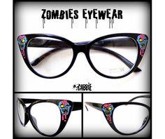 1044445049 Lunettes de zombies (monstre horreur Gore) - Vintage Retro Cat Eye lunettes  Frame -