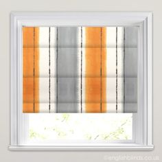 Pasha Mandarin Striped Roman Blinds - Wide