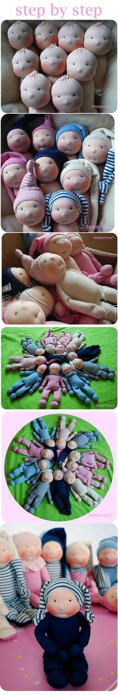 I have always been fascinated by soft sculpture dolls! Doll Crafts, Diy Doll, Sewing Crafts, Sewing Projects, Sewing Ideas, Sewing Hacks, Sock Dolls, Doll Toys, Baby Dolls