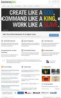 stylish premium portfolio / business WordPress theme from Theme Junkie