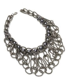 Take a look at this Gunmetal Gray Eugenie Necklace by Amrita Singh on #zulily today!