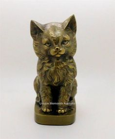 8 Bronze Sitting Pet Pussy Cat Memorial Cremation Keepsake Ashes Urn up to 40kg