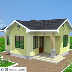 nekiki_ujenzi for the best quality and affordable house designs Flat Roof House Designs, Modern Small House Design, Simple House Design, Model House Plan, My House Plans, Family House Plans, Home Design Floor Plans, Home Building Design, Affordable House Plans