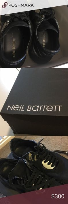 Neil barrettt 15ss runway metallic sneakers Purchased  in 2015. Only wore no more than 10 times. Even did not take off transparent sticker on metal. Neil Barrett Shoes Sneakers