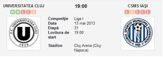 U Cluj – CSMS Iasi avancronica si pronostic (13.05.2013)