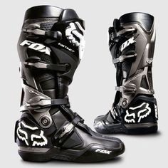 Fox Racing Instinct Boots Dirt Bike Motocross - shiaat these are seriously nice boots! Dirt Bike Boots, Dirt Scooter, Mx Boots, Dirt Bike Gear, Motorcycle Boots, Dirt Biking, Fox Motocross Boots, Motocross Gear, Riding Gear