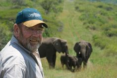 """Elephants mourn passing of a human friend. This man is Lawrence Anthony, known as the """"The Elephant Whisperer"""". He saved the lives of many wild elephant herds that were deemed violent. In 1999 he stayed w/ them day & night, talking to them & feeding them. He passed away on March 2nd of a heart attack. After his passing a group of elephants traveled over 12 hours to visit his home. They hadn't been to see him in over 18 months. They stayed around for a 2 day vigil before going back into the bush."""
