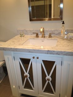Blue Granite Gorgeous White Vanity Top Cultured Marble Colors With And  Bronze Chrome Metal Single Faucet