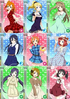 all except honoka Girls Characters, Anime Characters, Kawaii Girl, Kawaii Anime, Love Live Nozomi, Festival Games, Live Love, Live Set, Team Rocket