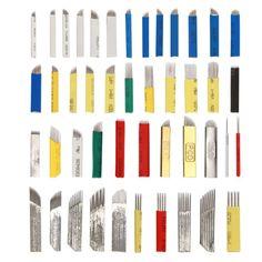 20 PCS Microblading Needles Permanent Makeup Eyebrow Lip Tattoo Liner Pin
