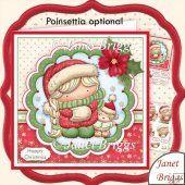 Snuggle Izzy Christmas 8x8 Decoupage Kit