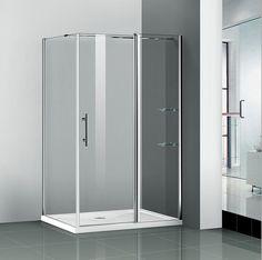 Walk In Chrome Pivot Shower Door Enclosure Frameless Screen Stone Tray Glass Screen, Pivot Doors, Cubicle, Shower Enclosure, Locker Storage, Shower Doors, Glass, Bathroom Shower, Walk In Shower Enclosures