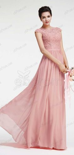 2ee57cd24fe Blush bridesmaid dresses with cap sleeves maid of honor dresses modest  formal dresses Modest Bridesmaid Dresses. ebProm