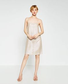 Image 1 of GLOSSY HALTER NECK DRESS from Zara
